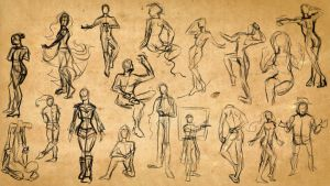 Gesture Drawing 4 by kozieBubble