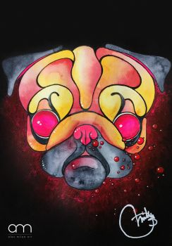 The Sad Pug by pennywise988