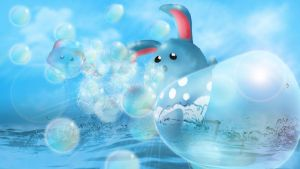 Azumarill used Bubblebeam