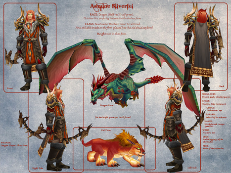 Ashaine Silverfel - Character Reference Sheet by The-Faileas