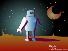 Robo-Moon by Bufoland