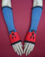 Alice gloves red, blue by Estylissimo