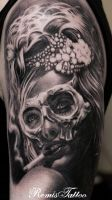 Day Of The Dead Tattoo Sugar Girl Tattoo by Remistattoo