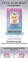 Vertical ID Card - Mock up by doghead