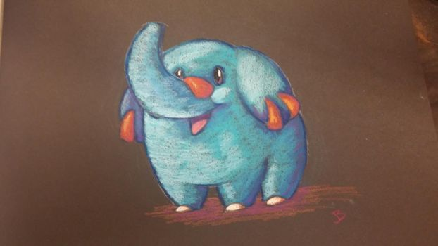 Phanpy in Pastel by jessijoke