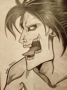 Eren Jaeger - Titan Form by ViserionRogue