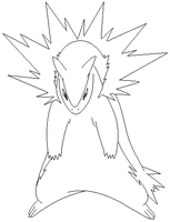 typhlosion lineart 1 by michy123