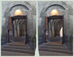 Gate in Cathedral HDR X-3D by zour