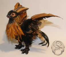 Nyxie Little Phoenix - Handmade Poseable Artdoll by SonsationalCreations