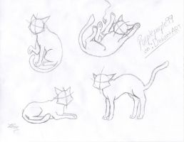 Basic Cat Poses 1 by Purplepurple99