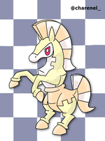 Checkorse white (fakemon) by Charenel