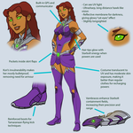 Young Justice Style Starfire design by luisalarconramos