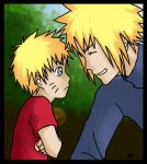 Naruto and Minato. by abzies