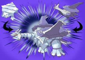 Avalugg and Mega Latios fusion