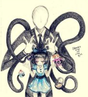Slender Man and Victoria by Petunia43