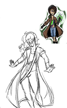 WIP Fusion of 2 Characters #2- Adam and Koda by SlimeTime6