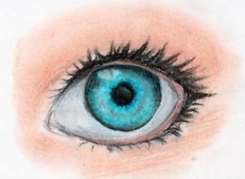 Eye practice with pastels by Anako-Kitsune