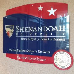 School of Business Wall Display by JFS-Design