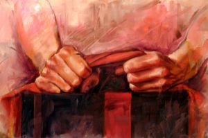 Hands with Red Cloth by Sirjoemoris