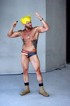 Guile - less cosplay by Cliffather