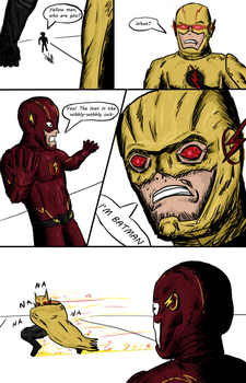 The Flash and Reverse Flash - Batman reveal by EvilProgram