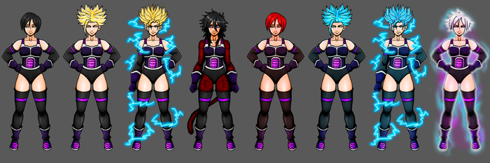 Dragon Ball OC : Ikkis (All Forms) by J-Aokaze