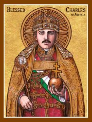 Blessed Charles of Austria icon by Theophilia