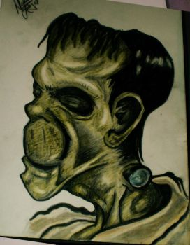 Frankenstein Pencil Sketch by desness