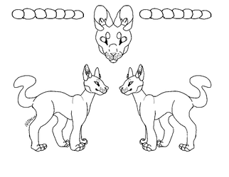 Cat Reference Line-art (MS PAINT FRIENDLY) by RadMew