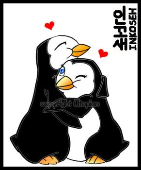 Penguin Love by macawnivore