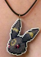 Umbreon stitched necklace (for TheWWEPrincess) by starrley