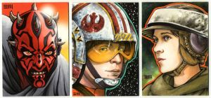 Sketch Card Commissions by Erik-Maell