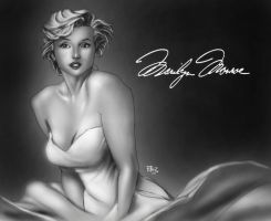Marilyn Monroe by dartbaston