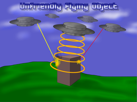 Unfriendly Flying Object by Scarzzurs