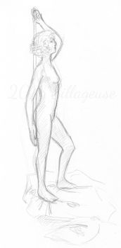 nude drawing class. pose 08 by Sillageuse