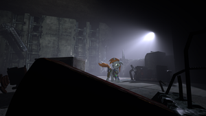 SFM (Fallout equestria) Dark and spooky place. by thesokol