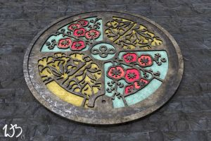 Ornate Drain Cover by Bahr3DCG