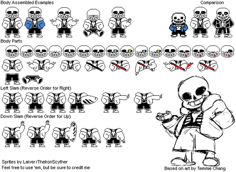 Sans Battle Sprite Redesign by TheIronScyther