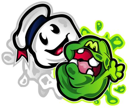 Stay Puft VS Slimer by CurtI-TurtI
