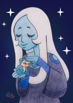 Commission for HealerCharm: Blue Diamond and Grouf by PilloTheStar