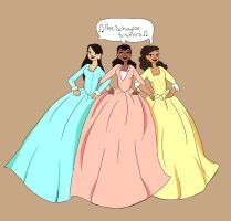 The Schuyler Sisters by Mizzaaaa