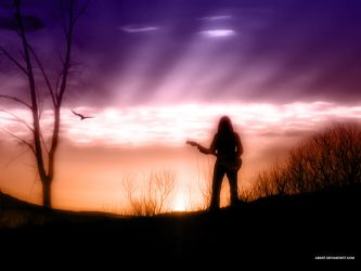 lonely guitarist by abart