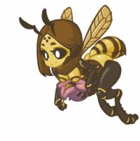 MonsterGirl_014 Honeybee (worker) by MuHut