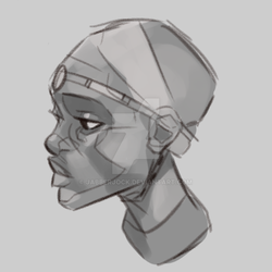 African Tribes Portrait Warmup by Jabberjock