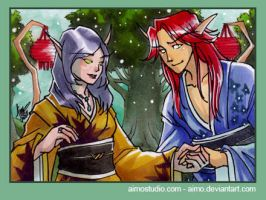 PSC - Blood Elf Couple 1 by aimo