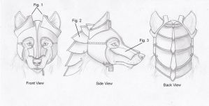 Wolf Anthro Steel Helm Concept by RussellTuller