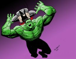 WOLVERINE HULK color by pfab