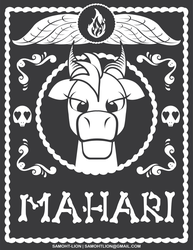 Mahari Day of the Dead Badge by Samoht-Lion