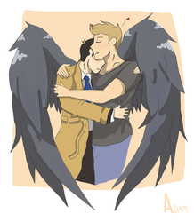Destiel Wings [color] by BackFromHell666