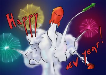 Fireworks: Happy New Year by zanyhow